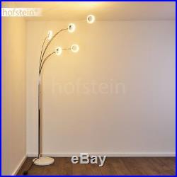 Moderne LED Design Stehleuchte Lampe Wohn Schlaf Zimmer silber 5-flammig Spots