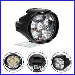 Motorcycle Headlight Spot Fog Lights Front Head Lamp 6 LED 2pcs UK Ship