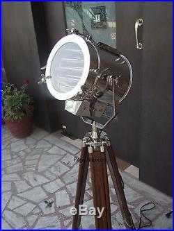 Nautical Designer Floor Lamp Tripod Searchlight Home Decor Spot Light