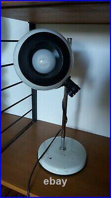 ORIGINAL 70S SPACE AGE LAMP eyeball Spotlight White Chrome