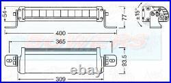 OSRAM LEDriving FX250-SP LED LIGHT BAR SPOT LIGHT SPOT LAMP DRIVING BEAM PATTERN
