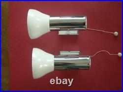 PAIR OF ORIGINAL VINTAGE 1960s 70s WALL SPOT LAMPS LIGHTS MID CENTURY STYLISH