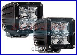 Pair Of Rigid Industries Dually 20221 12v/24v Led Spot Light Lamp Pods E-marked