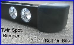 RDX Twin Spot light/lamps Bumper Land Rover Defender 90/110 200 300Tdi/Td5 Tdci