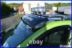 Roof Bar + Clamps For Renault Trafic 2002 2014 Steel Top Spot Lamp Light Bar