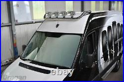 Roof Bar For Fiat Ducato 2014+ Polished Stainless Steel Top Spot Lamp Light Bar