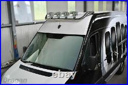 Roof Bar For Peugeot Boxer 2014+ Polished Stainless Steel Spot Lamps Light Bar