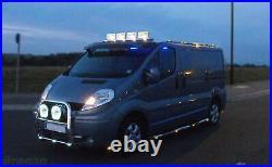 Roof Bar + LEDs For Mercedes Vito Viano 2004-2014 Steel Top Spot Lamp Light Bar