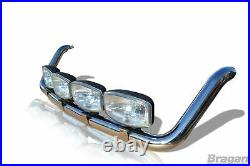 Roof Bart + LEDs For Iveco Daily 2006 2014 Stainless Steel Spot Lamp Light Bar