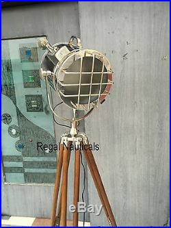 SPOT LIGHT Tripod Floor LAMP Search Light Chrome FLOOR LAMP Home Decor