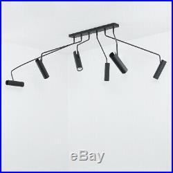 Schwenkbare Deckenleuchte in Spotform schwarz 6xGU10 Deckenlampe Strahler Spots