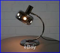 Seltene Ufo Chrom Tischlampe Schreibtisch Stab Leuchte Spot Vintage 70er Jahre