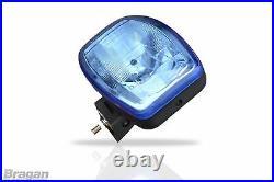 Spot Lights + LEDs For Scania DAF Volvo MAN 24v 9.5 Jumbo Oval Blue ABS Lamp