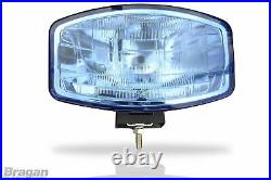 Spot Lights + LEDs For Volvo DAF MAN 24v 9.5 Jumbo Oval Blue ABS Lamp x6 Truck