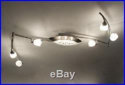 Spots Deckenleuchte Deckenlampe Design Deckenspot Strahler Glas Leuchte Lampen