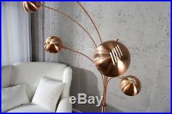 Stehlampe Stehleuchte FIVE kupfer Marmor 205cm Bogenlampe Design Spot Lampe NEU