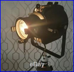 Strand lighting Electric Patt 23S Mid Century Theatre Spot Light w tripod stand
