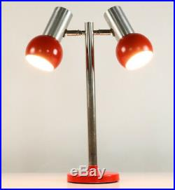 Tisch Lampe Kugel Strahler Spot Leuchte 70er Jahre Vintage Desk Lamp