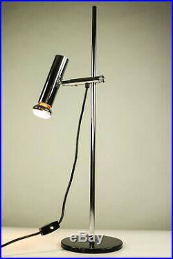 Tisch Lampe Strahler Chrom Spot Techniker Architekten Lese Leuchte Vintage 70er