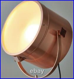 Tripod Chic White & Copper Table Floor Lamp Retro Vintage Studio Spot Light