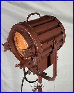 VINTAGE ORIGINAL 1950s MOVIE SPOT LIGHT FLOOR STANDING LAMP