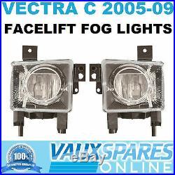 Vectra C Facelift New Pair Front Fog Lamps Spot Lights Foglights Sri Cdti Elite