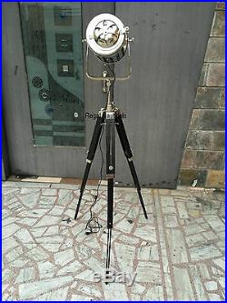 Vintage Authentic Spotlight Modern Floor Lamp Light Searchlight Tripod Modern