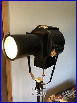 Vintage Kodak Theatre Spotlight In Full Working Order With Original Stand Tripod