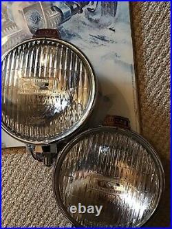 Vintage Lucas Spot Lights LUCAS FT/LR6 Chrome Spot Lamps SUPER CONDITION
