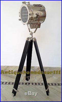 Vintage/Retro Theatre Spot Light Wooden Tripod Floor Lamp Home Decorative