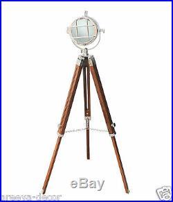 Vintage Searchlight Marine Vintage Look Spotlight Retro Tripod Floor Lamp Decor