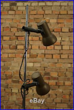 Vintage Stehlampe Leselampe Spot Leuchte Lampe 2flg Floor Lamp Stehleuchte 70er