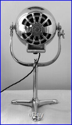 Vintage Strand 123 British Theatre Bbc Stage Table Light Lamp Tri Base Stand