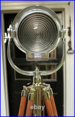 Vintage Strand 123 British Theatre Stage Studio Spot Light With Barndoors