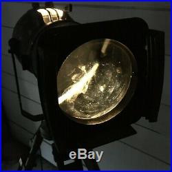 Vintage Strand Patt 23 Theatre Spot Light Converted Lamp on Tripod