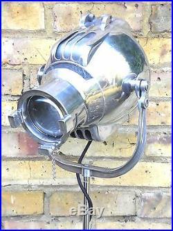 Vintage Theatre Film Spot Light Studio Floor Lamp Industrial Antique London 50's