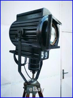 Vintage Theatre Floor Lamp, Vintage Cinema Spot Light, Industrial Tripod Floor L
