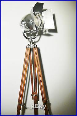 Vintage Theatre Spot Light Antique Art Deco Industrial Film Lamp Strand 123 50's