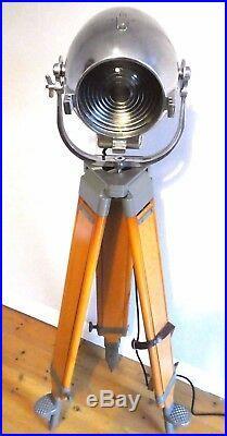 Vintage Theatre Spot Light Antique Studio Film Lamp Industrial Strand Barn Doors