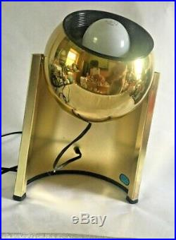 Vintage mod 1970s Brass Eyeball Lamp Spotlight Mid Century Modern Atomic Table