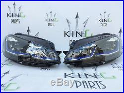 Vw Golf Mk7.5 Gte LCI 2017 #new Complete Headlights Full Led Xenon Left & Right