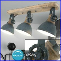 Wood ceiling lamp gray moving spot light fixture living room spotlights lighting