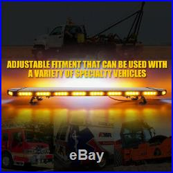 Xprite Black Hawk 48 LED Roof Top Emergency Strobe Light Bar-Amber