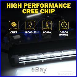 Xprite C6 Series 180W 38 Ultra Thin Single Row LED Spot Light Bar Off-road Jeep