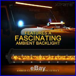 Xprite LED Light Bar Amber 42inch Double Row Sunrise Series Backlight for Truck